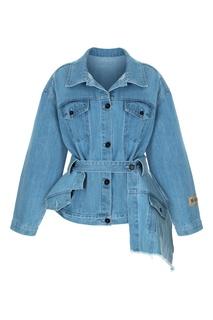 Джинсовая куртка с баской Ruban