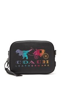 Черная сумка с рисунком Coach
