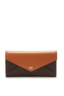 Темно-коричневый кошелек Money Pieces с монограммами Michael Kors