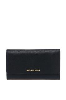Черный кошелек с клапаном Money Pieces Michael Kors