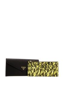 Кожаный кошелек с логотипом Prada
