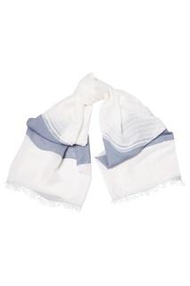 Белый шарф с контрастной отделкой Eleventy