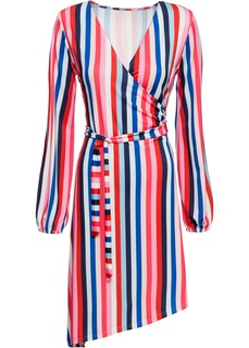 Короткие платья Платье с запахом в полоску Bonprix