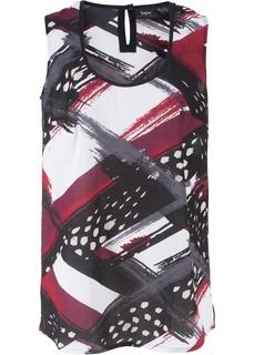 Блузки с коротким рукавом Топ расклешенного покроя Bonprix