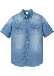Рубашки с коротким рукавом Рубашка джинсовая Bonprix
