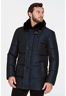 Куртка на искусственном пуху с отделкой мехом выдры Vittorio Emanuele