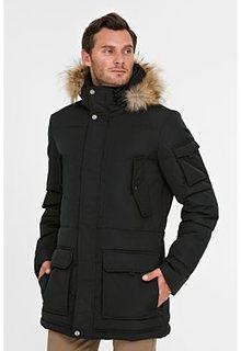куртка на искусственном пуху с отделкой мехом енота Jorg Weber