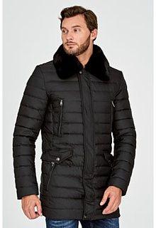 Утепленная куртка с отделкой мехом кролика Al Franco