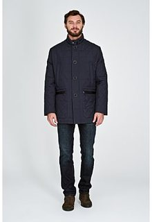 Утепленная куртка с отделкой искусственной кожей Al Franco
