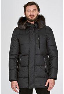 Утепленная куртка с отделкой мехом енота и кролика Vittorio Emanuele