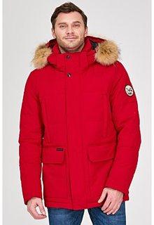 Утепленная куртка с отделкой мехом енота Urban Fashion for men