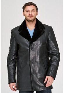Кожаная куртка с подкладкой из овчины Vericci