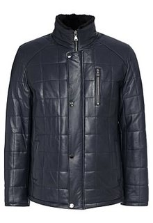 Утепленная кожаная куртка с подкладкой из овчины Malinardi