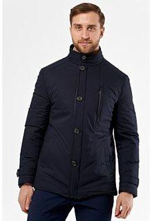 Утепленная куртка с отделкой экокожей Al Franco