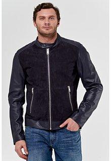 Комбинированная кожаная куртка Jorg Weber