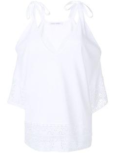 Alberta Ferretti блузка с открытыми плечами и вышивкой
