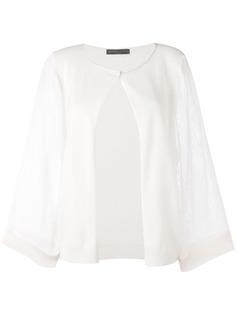 Fabiana Filippi вязаная блузка на одной пуговице
