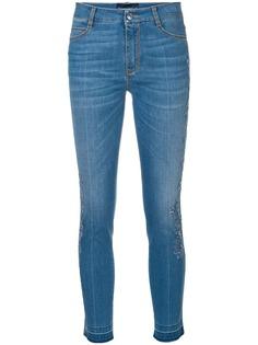 Ermanno Scervino укороченные джинсы с кружевной отделкой