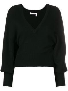 Chloé v-neck cropped sweater
