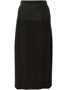 Yves Saint Laurent Pre-Owned юбка-карандаш с панельным дизайном