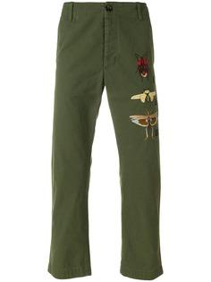 Gucci брюки чинос с аппликацией