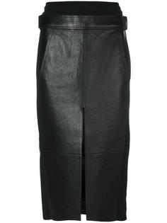 Alexander Wang юбка из кожи ягненка