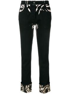 Prada джинсы с принтом