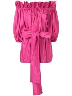 Stella McCartney блузка с открытыми плечами и завязками на талии