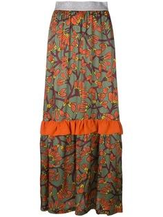 IM Isola Marras длинная юбка с цветочным рисунком и оборками