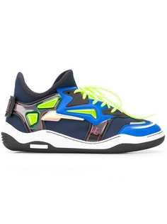 Lanvin кроссовки с контрастными панелями
