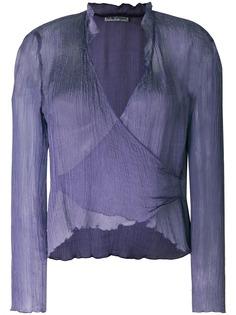 Giorgio Armani Pre-Owned прозрачная блузка с запахом спереди