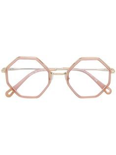 Chloé Eyewear очки в восьмиугольной оправе