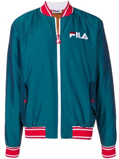 Fila куртка-бомбер с вышитым логотипом