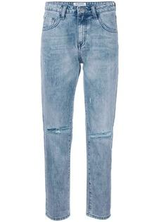 One Teaspoon прямые джинсы с рваными деталями