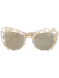"""Dolce & Gabbana Eyewear солнцезащитные очки с оправой """"кошачий глаз"""""""
