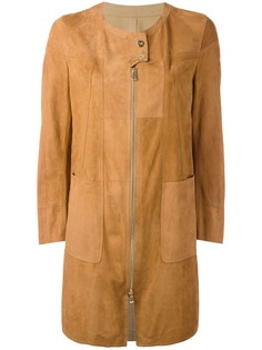 Sylvie Schimmel пальто лоскутного кроя с кнопочной застежкой