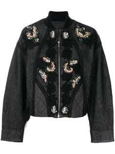 Antonio Marras куртка с цветочной вышивкой и пайетками