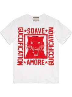 Gucci футболка с принтом Soave Amore Guccification