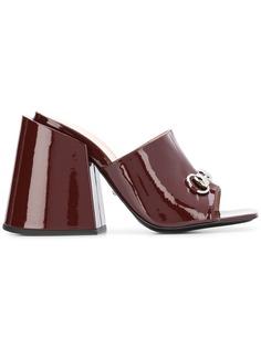 Gucci мюли на высоком каблуке