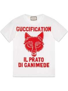 Gucci футболка с принтом Il Prato di Ganimede Guccification