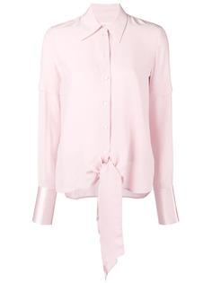 Victoria Victoria Beckham приталенная блузка с длинными рукавами