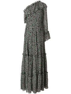 MSGM платье макси с оборкой