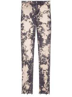 Gucci облегающие джинсы с вышивкой