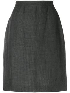 Krizia Pre-Owned юбка-карандаш в мелкую клетку