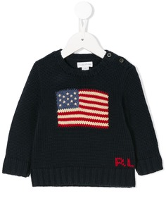 Ralph Lauren Kids вязаный свитер с логотипом