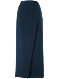 Chanel Pre-Owned длинная юбка с запахом