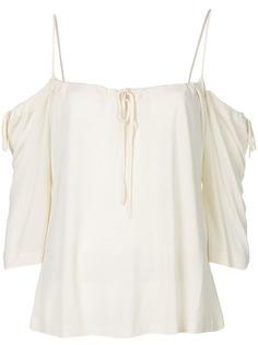 Yohji Yamamoto Pre-Owned блузка со спущенными плечами на бретельках