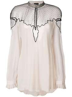 Just Cavalli блузка с полупрозрачной вставкой