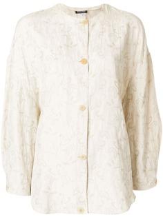Giorgio Armani Pre-Owned куртка свободного кроя с цветочной вышивкой