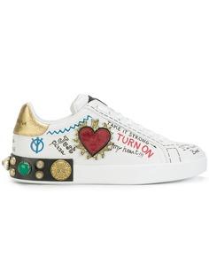 Dolce & Gabbana кроссовки с заплатками
